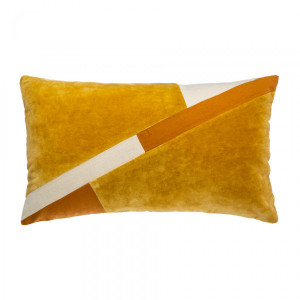 Coussin rectangulaire Patch Jaune ocre