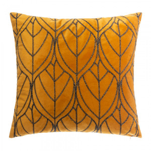 Coussin (40 cm) Charly Jaune ocre