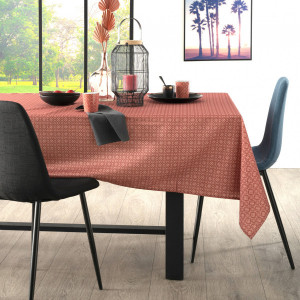 Nappe rectangulaire anti tache (L240 cm) Afriky Rouge