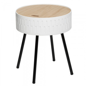 Table coffre Shiro Blanche