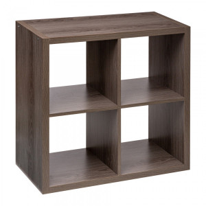Etagère Mix horizontale 4 cases Marron