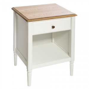 Table de chevet Solen Blanche