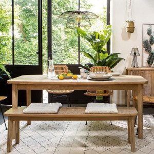 Table de repas extensible Banila Marron