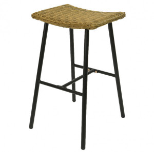Lot de 2 tabourets de bar Hanoi - Naturel