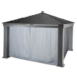 Lotto di 4 tende per gazebo Patia (4 x 4 m) -  Ardesia