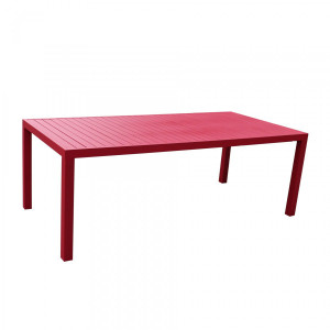 Table de jardin rectangulaire  Aluminium Murano (210 x 100 cm) - Rouge