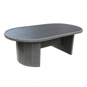 Table de jardin ovale Calvi - Gris
