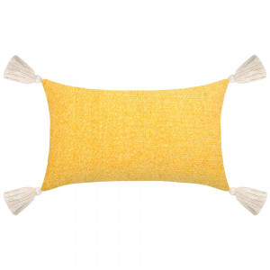 Coussin rectangulaire Chila Jaune moutarde