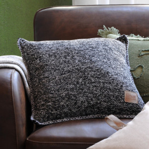 Coussin (40 cm) Handcraft Gris anthracite