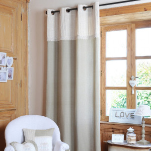 Rideau tamisant (140 x 260 cm) Charline Beige