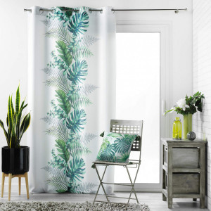 Cortina semi opaca (140 x 260 cm) Tropical Chic Verde