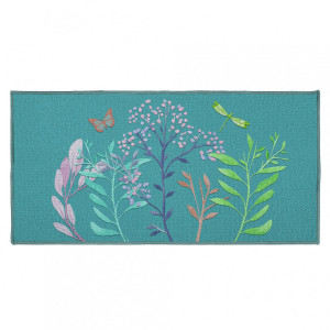 Tapis multi-usage (115 cm) Fresh Flower Bleu