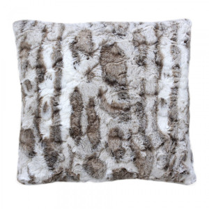 Coussin fausse fourrure (40 cm) Lou Taupe