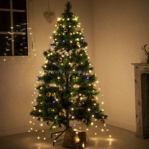 Lichtgordijn voor kerstboom  Micro led H1,80 m warmwit 408 LED
