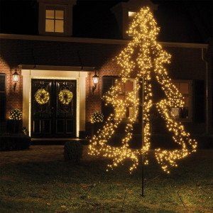 Sapin lumineux  scintillant à planter Blanc chaud 3000 LED