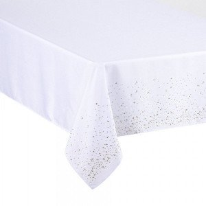 Nappe rectangulaire (L360 cm) Strass Or