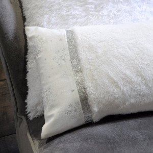 Coussin rectangulaire Whitty Argent