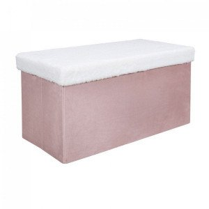 Pouf pliant double Leo Rose