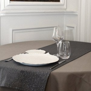 Chemin de table (140 cm) Etincelle Anthracite