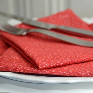 Lot de 3 serviettes Etincelle Rouges