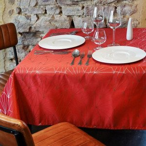 Nappe rectangulaire (L240 cm) Facette Rouge