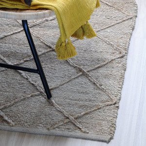 Alfombra (90 cm) Alabama Beige natural