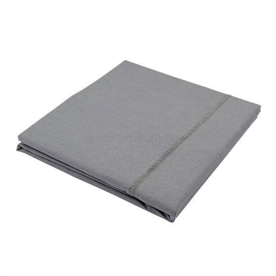 taie de traversin coton sup rieur l185 cm uni gris souris linge de lit eminza. Black Bedroom Furniture Sets. Home Design Ideas