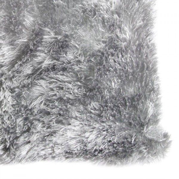 housse de coussin imitation fourrure gris d co textile. Black Bedroom Furniture Sets. Home Design Ideas