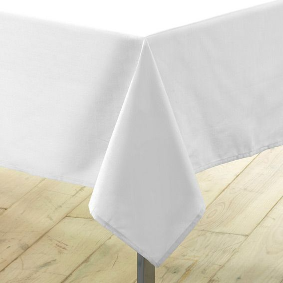 nappe rectangulaire anti tache anti tache l300 cm essentiel blanc nappe de table eminza. Black Bedroom Furniture Sets. Home Design Ideas