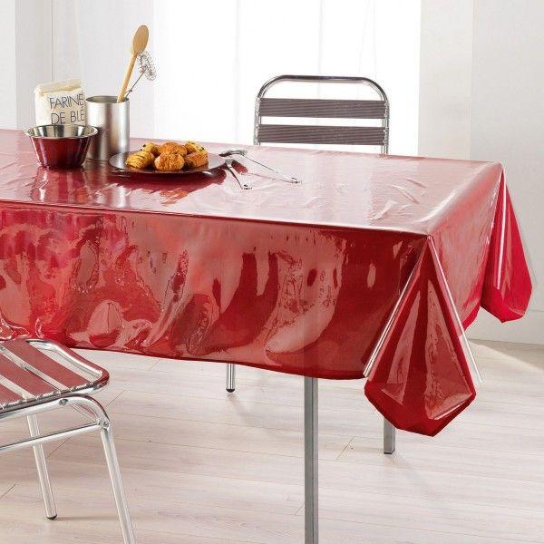 prot ge nappe rectangulaire transparent toile cir e linge de table eminza. Black Bedroom Furniture Sets. Home Design Ideas