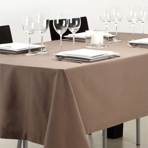 Taupe guide d 39 achat - Nappe rectangulaire anti tache ...