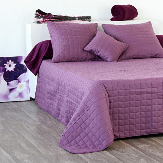 couvre lit boutis violet linge de lit eminza. Black Bedroom Furniture Sets. Home Design Ideas