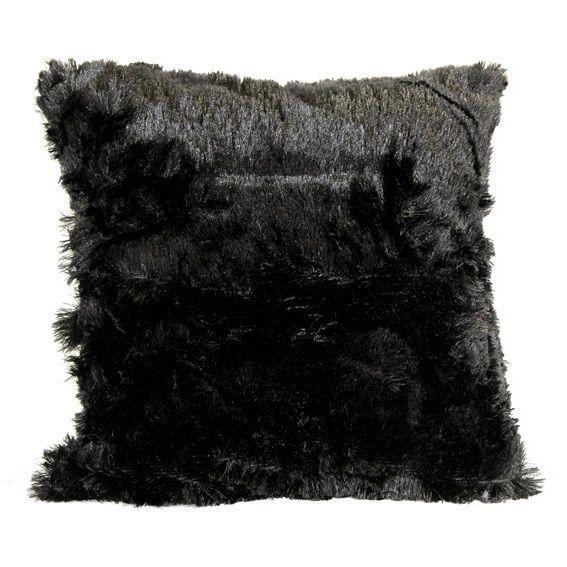 Coussin douceur Peluche Noir