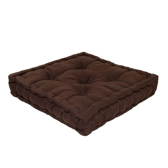 coussin de sol 50 cm etna chocolat coussin de sol et. Black Bedroom Furniture Sets. Home Design Ideas