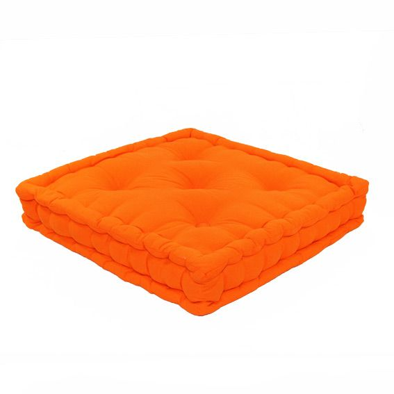 grand coussin de sol lucas orange. Black Bedroom Furniture Sets. Home Design Ideas