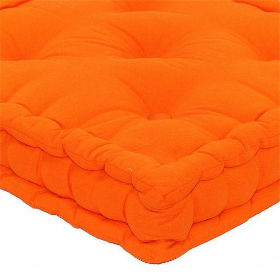Coussin de sol 50 cm etna orange d co textile eminza - Coussin de chaise orange ...