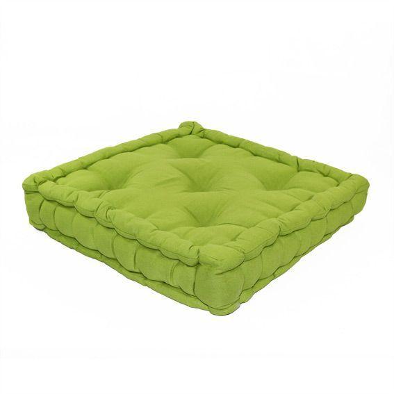 coussin de sol 50 cm etna vert anis d co textile eminza. Black Bedroom Furniture Sets. Home Design Ideas
