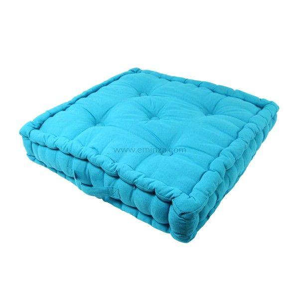 coussin de sol 50 cm etna turquoise coussin de sol et pouf eminza. Black Bedroom Furniture Sets. Home Design Ideas