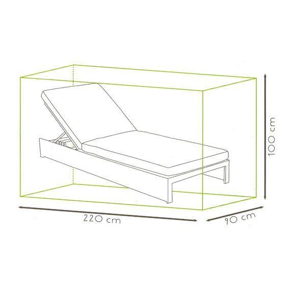 housse de protection pour bain de soleil l 220 cm housse de protection eminza. Black Bedroom Furniture Sets. Home Design Ideas