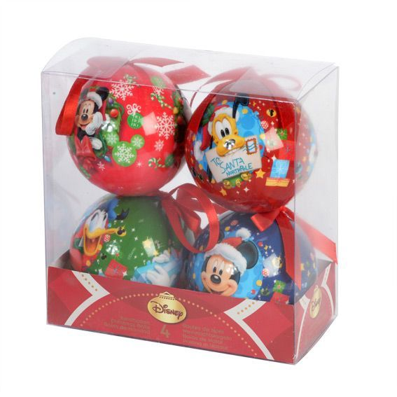Lot de 4 boules de No�l Disney Mickey Multicolore