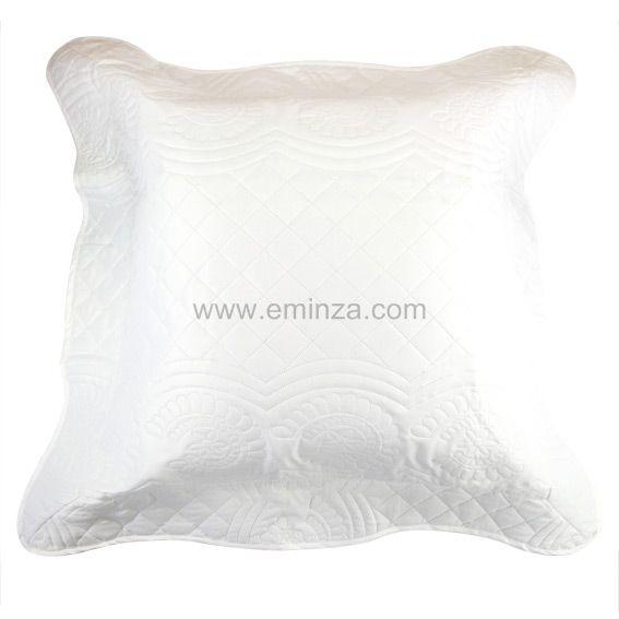 housse de coussin boutis nocturne blanc coussin et housse de coussin eminza. Black Bedroom Furniture Sets. Home Design Ideas