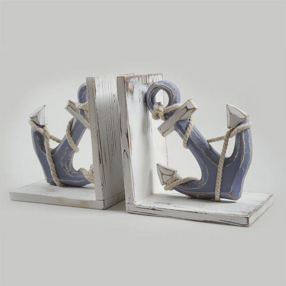 support livres ancres d co bord de mer eminza. Black Bedroom Furniture Sets. Home Design Ideas