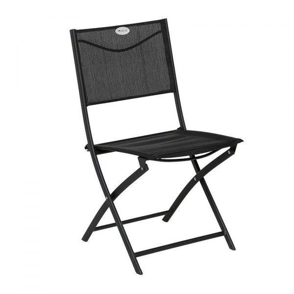 chaise de jardin pliante modula noir chaise et. Black Bedroom Furniture Sets. Home Design Ideas