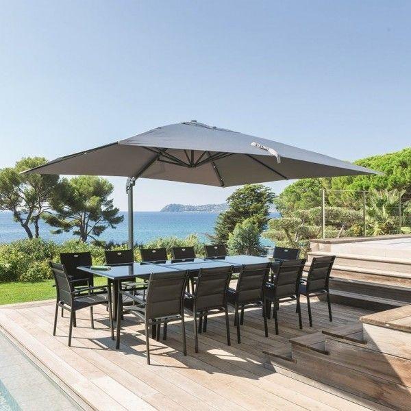 parasol d port fresno rectangulaire l 4 x l 3 m. Black Bedroom Furniture Sets. Home Design Ideas