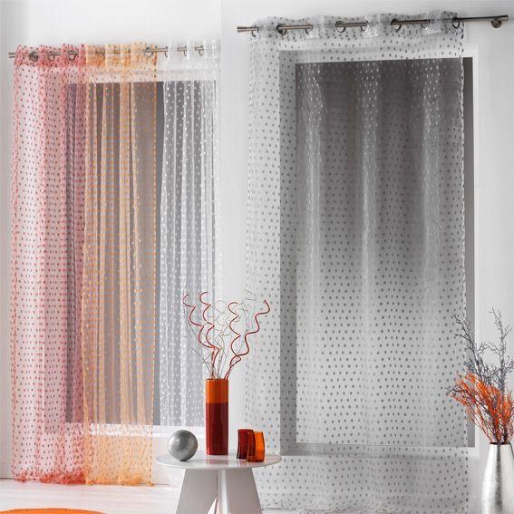 voilage 140 x h240 cm capri rouge rideau voilage. Black Bedroom Furniture Sets. Home Design Ideas