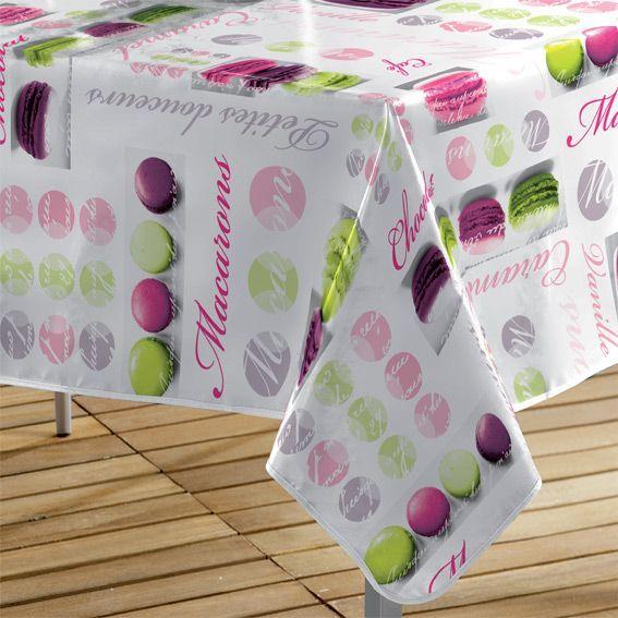 nappe cir e rectangulaire l240 cm macarons rose eminza. Black Bedroom Furniture Sets. Home Design Ideas