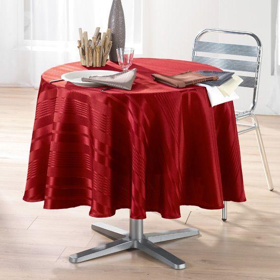 nappe ronde smart rouge jacquard. Black Bedroom Furniture Sets. Home Design Ideas