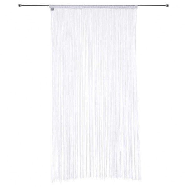 rideau de fil 90 x h200 cm uni blanc rideau de porte. Black Bedroom Furniture Sets. Home Design Ideas