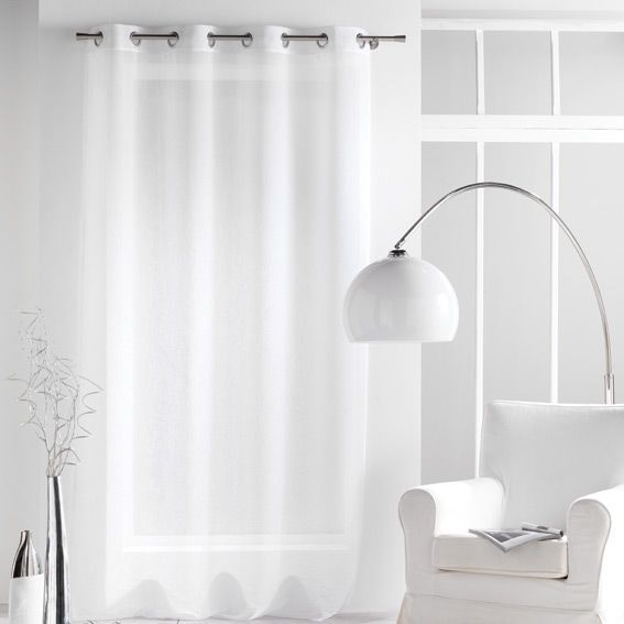 rideau et voilage blanc eminza. Black Bedroom Furniture Sets. Home Design Ideas