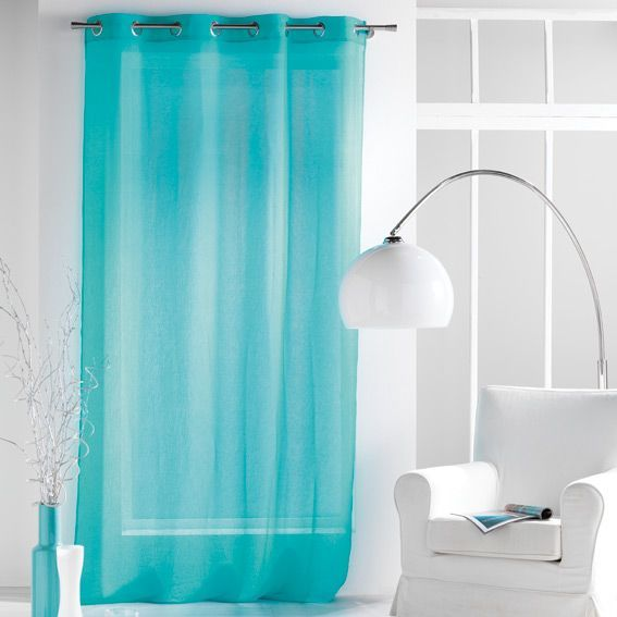 Voilage (140 x H240 cm) Paloma Turquoise